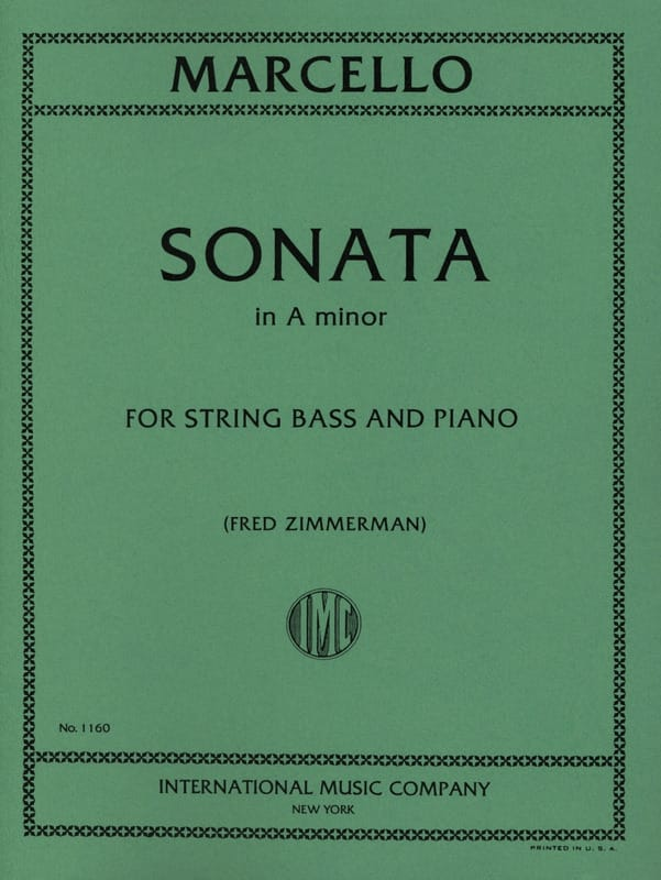 Sonate A minor - String bass - Benedetto Marcello - laflutedepan.com