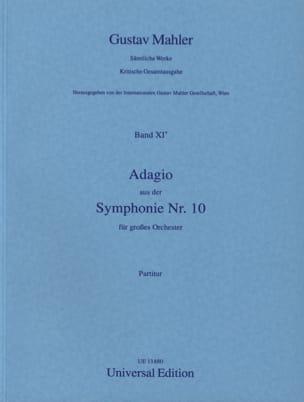 Adagio aus der Symphonie Nr. 10 - Partitur MAHLER laflutedepan