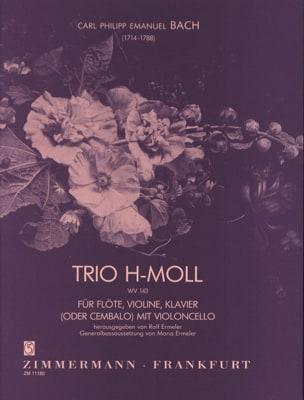 Trio en Si Mineur Wq 143 Carl Philipp Emanuel Bach laflutedepan
