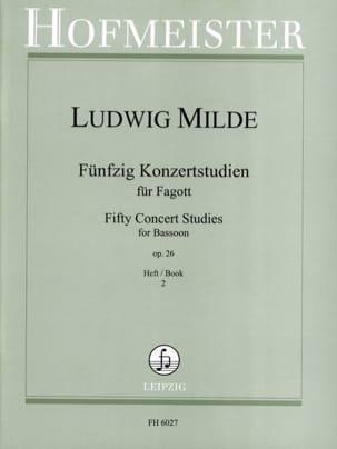 50 Konzertstudien - Heft 2 Ludwig Milde Partition laflutedepan