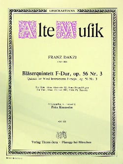 Bläserquintett F-Dur op. 56 Nr. 3 -Stimmen Franz Danzi laflutedepan