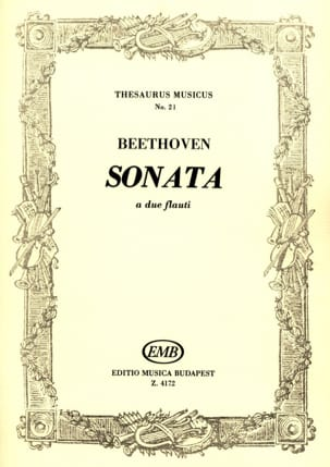 Sonata - 2 flauti BEETHOVEN Partition Flûte traversière - laflutedepan