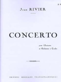 Concerto Jean Rivier Partition Clarinette - laflutedepan