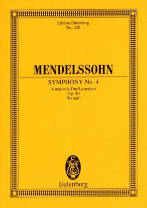 Symphonie Nr. 4 A-Dur - Partitur MENDELSSOHN Partition laflutedepan