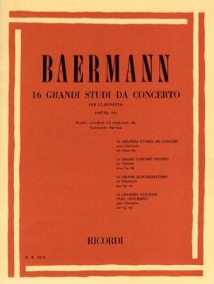16 Grandi studi da concerto dall'op. 64 Carl Baermann laflutedepan