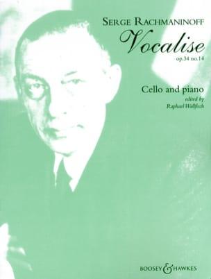 Vocalise op. 34 n° 14 RACHMANINOV Partition Violoncelle - laflutedepan