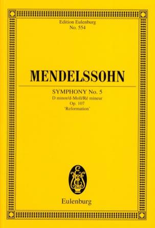 Symphonie Nr. 5 d-moll MENDELSSOHN Partition laflutedepan
