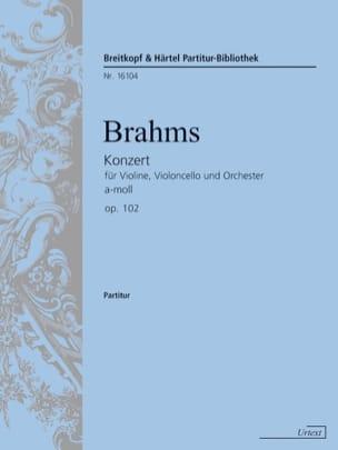 Konzert für Violine, Violoncello a-moll op. 102 BRAHMS laflutedepan
