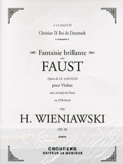 WIENIAWSKI - Shiny Fantasy on Faust op. 20 - Partition - di-arezzo.co.uk