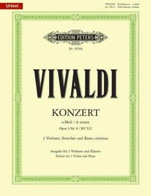 Concerto En la mineur . Op.3 N°8 - Rv 522 VIVALDI laflutedepan
