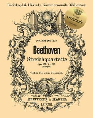 Ludwig van Beethoven - Cuartetos de cuerda op. 59, 74, 95 - Partition - di-arezzo.es