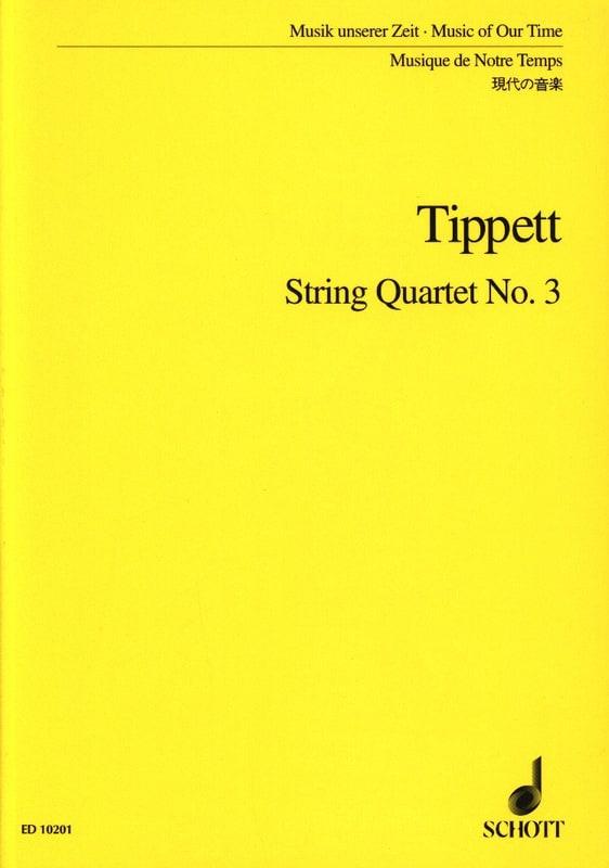 String quartet n° 3 - Score - Michael Tippett - laflutedepan.com