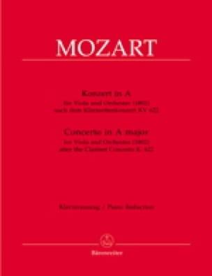Concerto en La Majeur - alto - MOZART - Partition - laflutedepan.com
