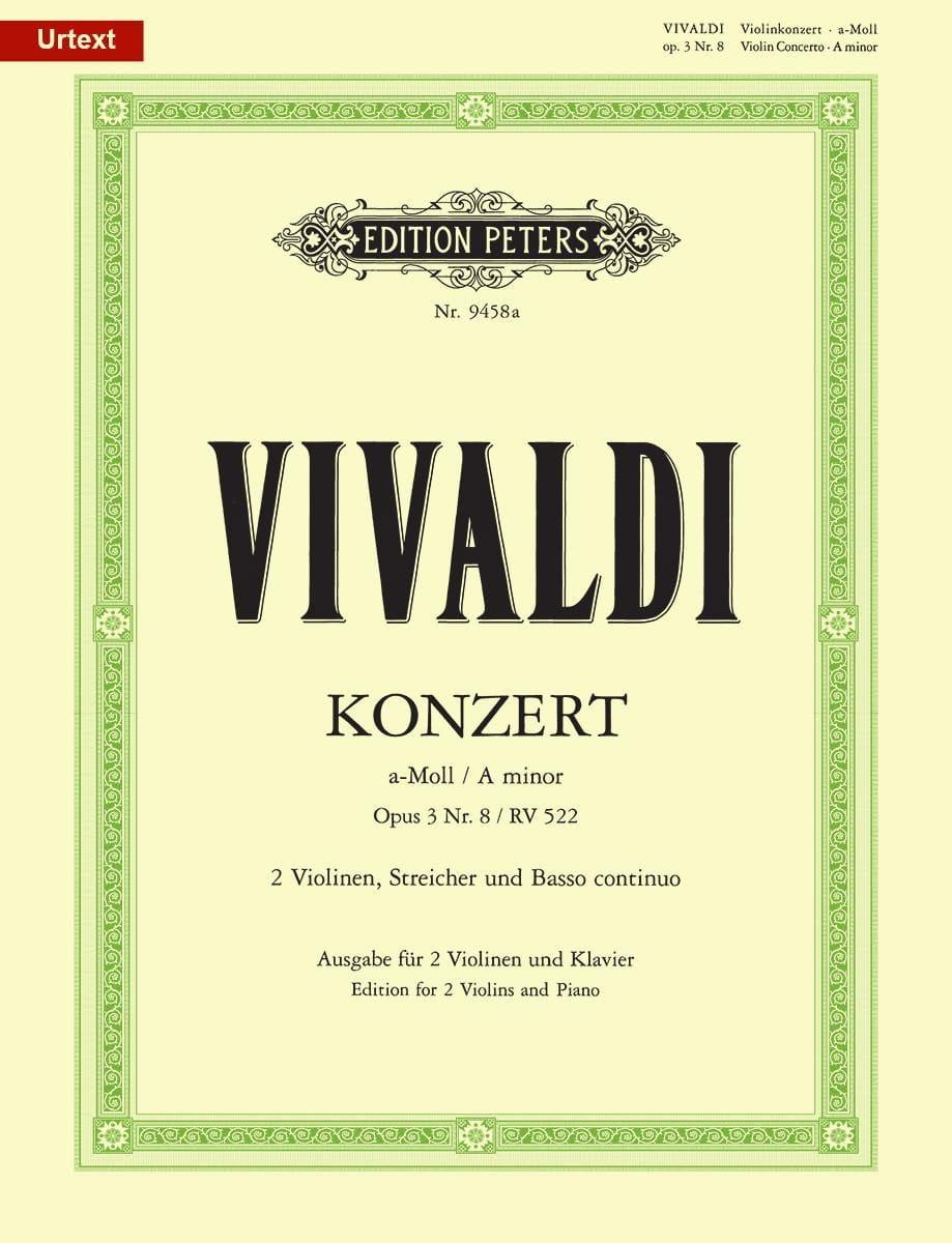 Concerto En la mineur . Op.3 N°8 - Rv 522 - VIVALDI - laflutedepan.com