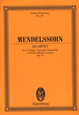 MENDELSSOHN - Streich-Quartett A-Moll Op. 13 - Partition - di-arezzo.co.uk