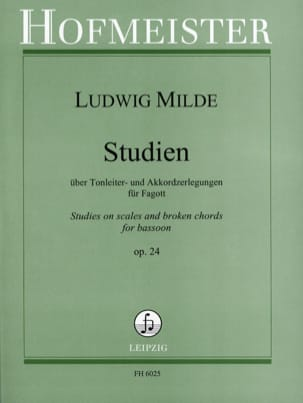 Ludwig Milde - Studien op. 24 - Partition - di-arezzo.co.uk