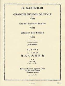 Grandes études de style op. 134 GARIBOLDI Partition laflutedepan