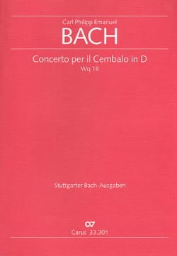 Concerto Per il Cembalo In D Wq 18 - Conducteur laflutedepan