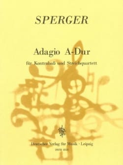 Adagio A-Dur -Kontrabass u. Streichquartett laflutedepan