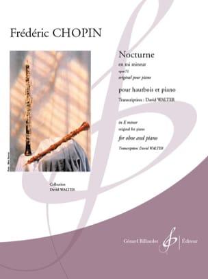 Nocturne en mi min., op. 72 - Hautbois et piano CHOPIN laflutedepan