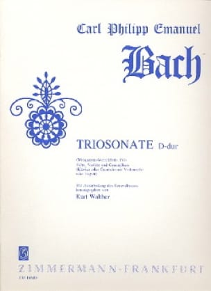 Triosonate D-Dur Wq 151 - Flöte Violine u. Bc - laflutedepan.com