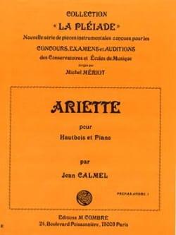 Ariette Jean Calmel Partition Hautbois - laflutedepan