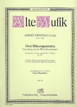 3 Bläserquartette - Nr. 1 F-Dur -Flöte Klarinette Horn Fagott - laflutedepan.com