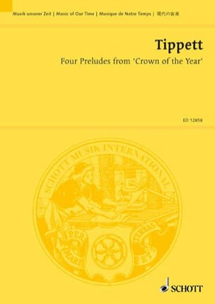 Four Preludes From Crown Of Year - Michael Tippett - laflutedepan.com