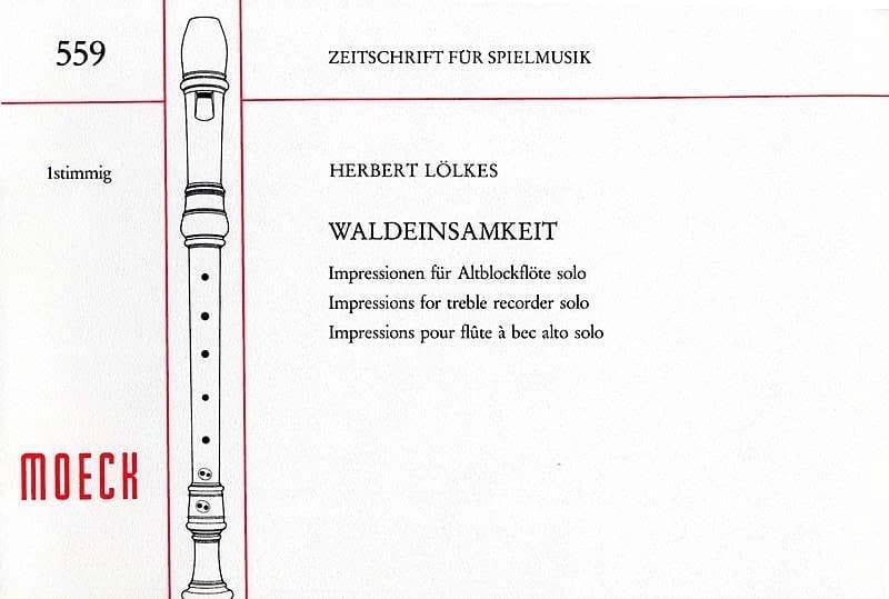 Waldeinsamkeit - Herbert Lölkes - Partition - laflutedepan.com