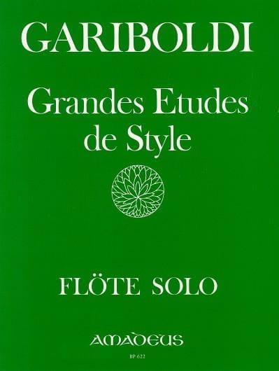 Grandes études de style opus 134 - GARIBOLDI - laflutedepan.com
