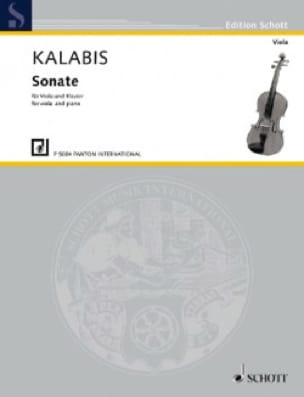 Sonate - Alto et Piano - Viktor Kalabis - Partition - laflutedepan.com