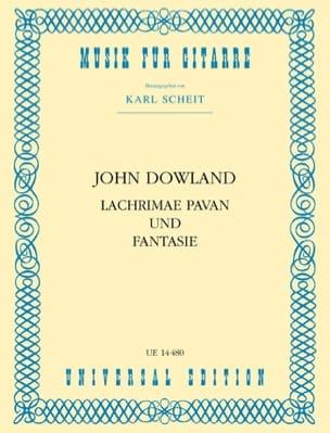 Lachrimae Pavan und Fantasie DOWLAND Partition Guitare - laflutedepan