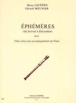 Ephemeres De Janvier A Decembre - Flute A Bec -Piano laflutedepan