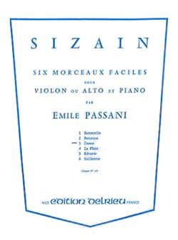 Sizain n° 3 : Danse Emile Passani Partition Violon - laflutedepan