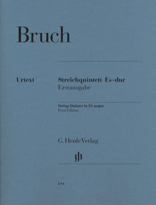 Quintette à cordes en Mi majeur BRUCH Partition laflutedepan