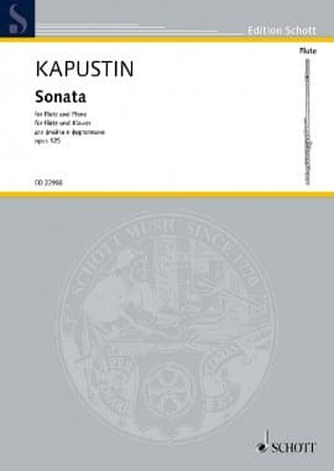 Sonate - Flûte et Piano Nikolai Kapustin Partition laflutedepan