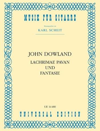 Lachrimae Pavan und Fantasie - DOWLAND - Partition - laflutedepan.com