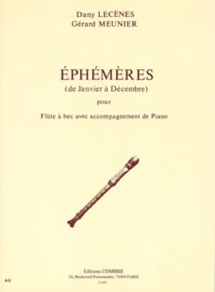 Ephemeres De Janvier A Decembre - Flute A Bec -Piano - laflutedepan.com