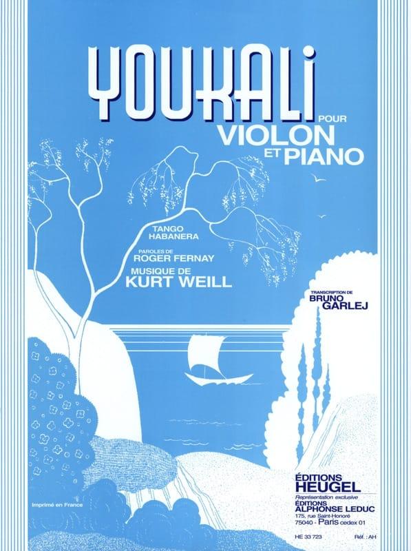 Youkali - WEILL - Partition - Violon - laflutedepan.com