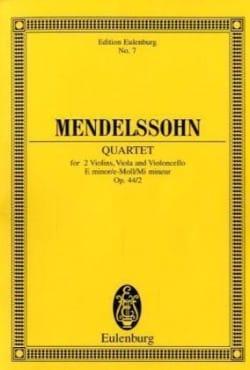 Streich-Quartett e-moll op. 44/2 - MENDELSSOHN - laflutedepan.com