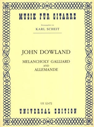 Melancholy Galliard and Allemande DOWLAND Partition laflutedepan