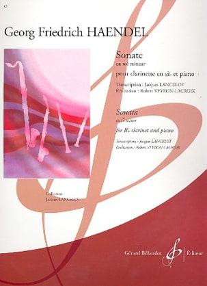 Sonate en Sol Mineur HAENDEL Partition Clarinette - laflutedepan