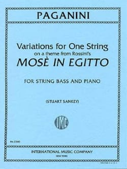 Variations for one string, on a them from Rossini's Mose in Egitto- Bass laflutedepan