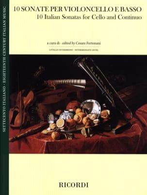 10 Sonates Italiennes - Violoncelle et Basse Partition laflutedepan