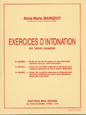 Exercices d'intonation - Cahier 1 - laflutedepan.com