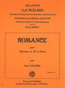 Romance Jean Calmel Partition Clarinette - laflutedepan