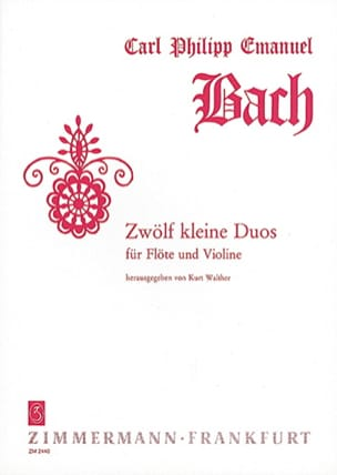Zwölf Kleine Duos Carl Philipp Emanuel Bach Partition laflutedepan