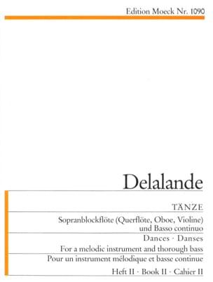 Tänze - Heft 2 DELALANDE Partition Flûte à bec - laflutedepan