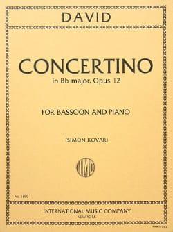 Concertino op. 12 -Bassoon piano Ferdinand David laflutedepan