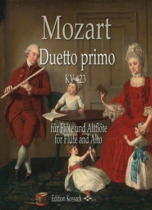 Duetto Primo, KV 423 MOZART Partition Flûte traversière - laflutedepan